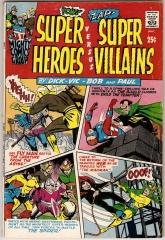 SUPER HEROES VERSUS SUPER VILLAINS (1966) cover by Paul Reinman