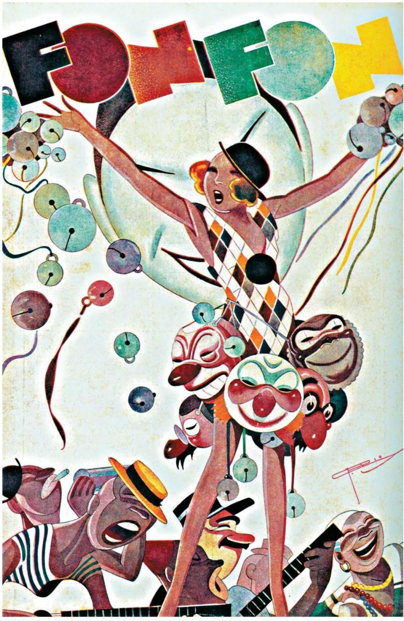 FON-FON (date unknown); cover art: J. Carlos--this Carnival cover features the typical carioca characters of J. Carlos.